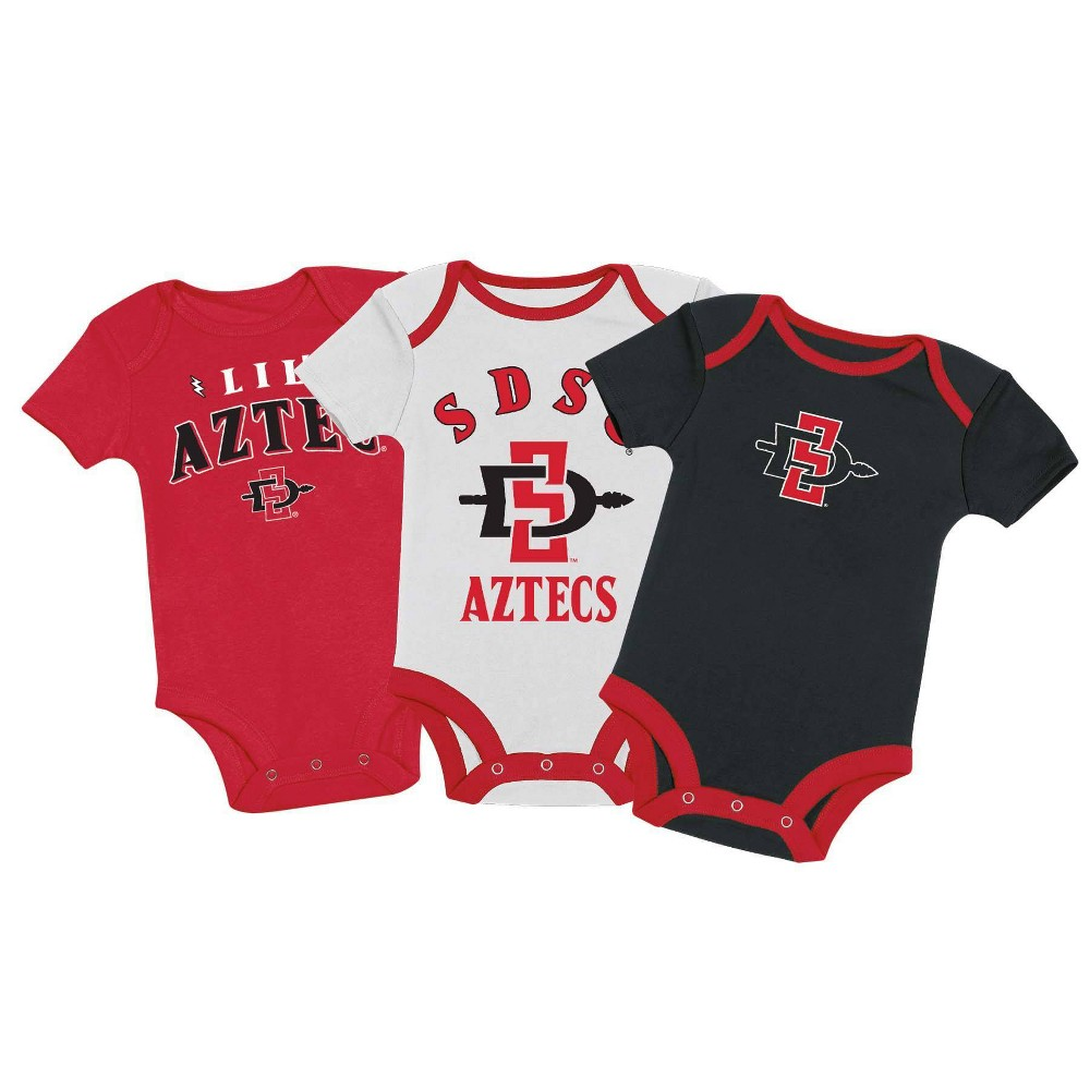 Ncaa San Diego State Aztecs Baby Boys 39 3pk Bodysuit Set 3 6m