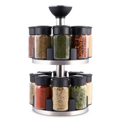 Cole & Mason Brixham 16 Jar Round Stainless Steel Spice Rack