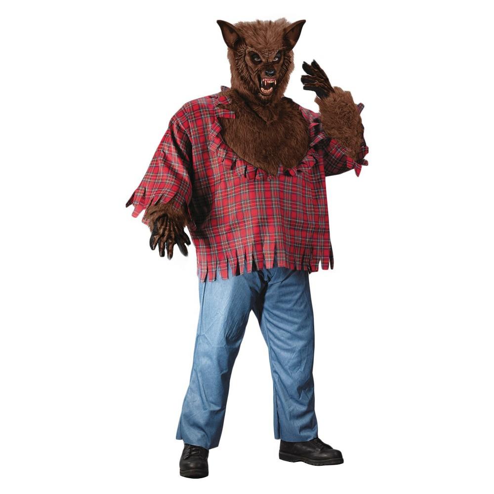 Men's Werewolf Costume XX Large, Size: Xxl, Red/Brown