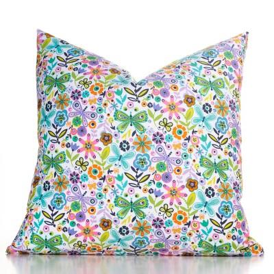 Accent Throw Pillow With Sham Butterfly Garden - Crayola