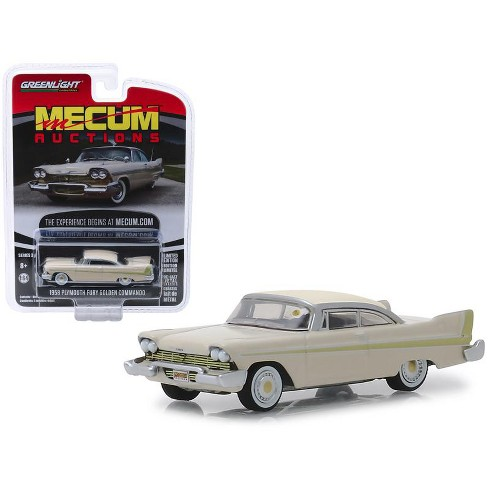 """1958 Plymouth Fury Golden Commando Beige (Kissimmee 2012) """"Mecum Auctions"""" Series 3 1/64 Diecast Model Car by Greenlight - image 1 of 1"""