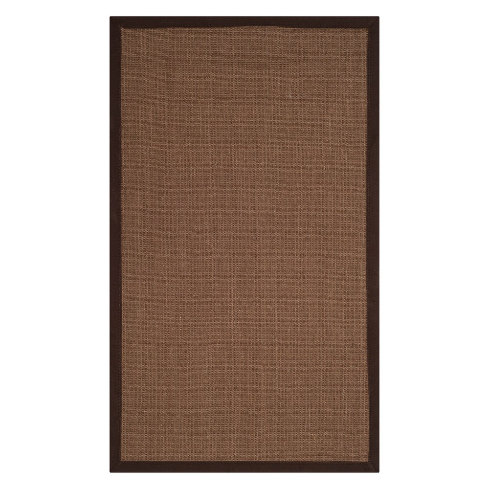 3'X5' Solid Loomed Accent Rug Brown - Safavieh