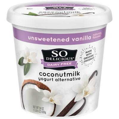 So Delicious Dairy-Free Unsweetened CoconutMilk Vanilla Yogurt Alternative - 24oz