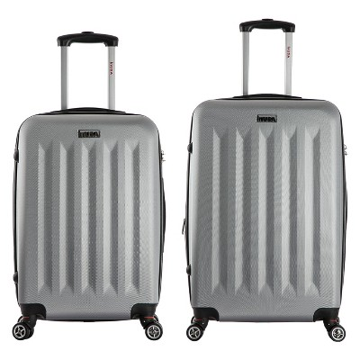 InUSA Philadelphia 2pc Hardside Spinner Luggage Set - Gray