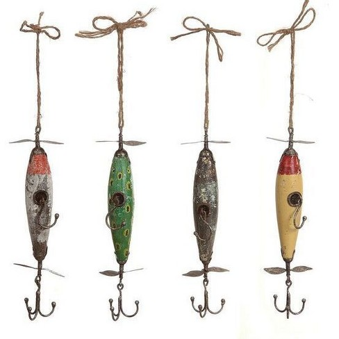 Fishing Lure Hooks Wall Décor - Set of 4 - 3R Studios - image 1 of 2