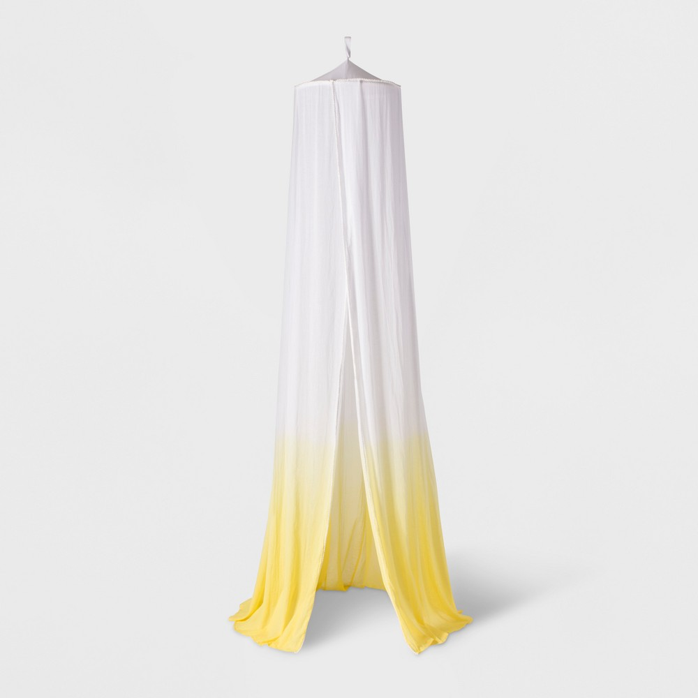 Image of Dip-Dye Yellow Bed Canopy (One Size) - Pillowfort