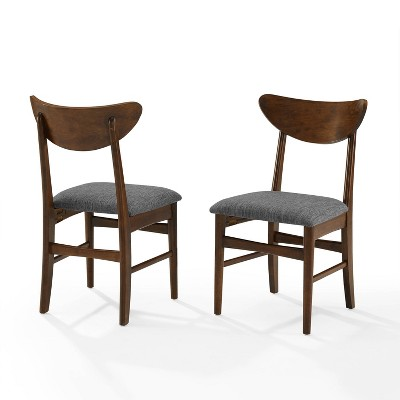 Set of 2 Landon Wood Dining Chairs with Upholstered Seat - Crosley