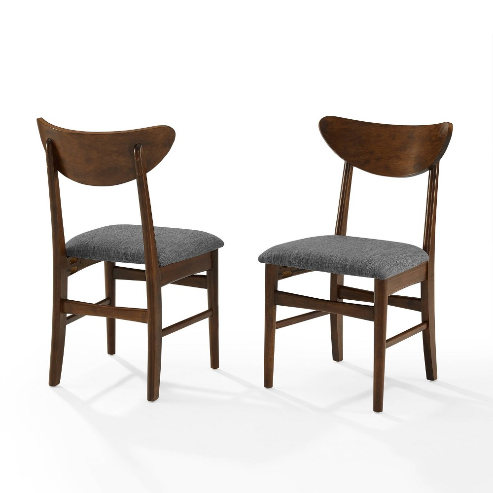Discounts Set of 2 Landon Wood Dining Chairs with Upholste Seat  - Crosley