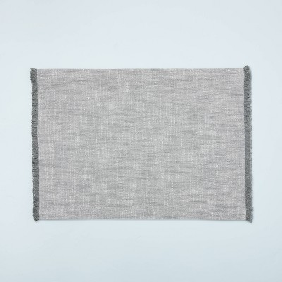 Cross Weave with Fringe Placemat Gray - Hearth & Hand™ with Magnolia