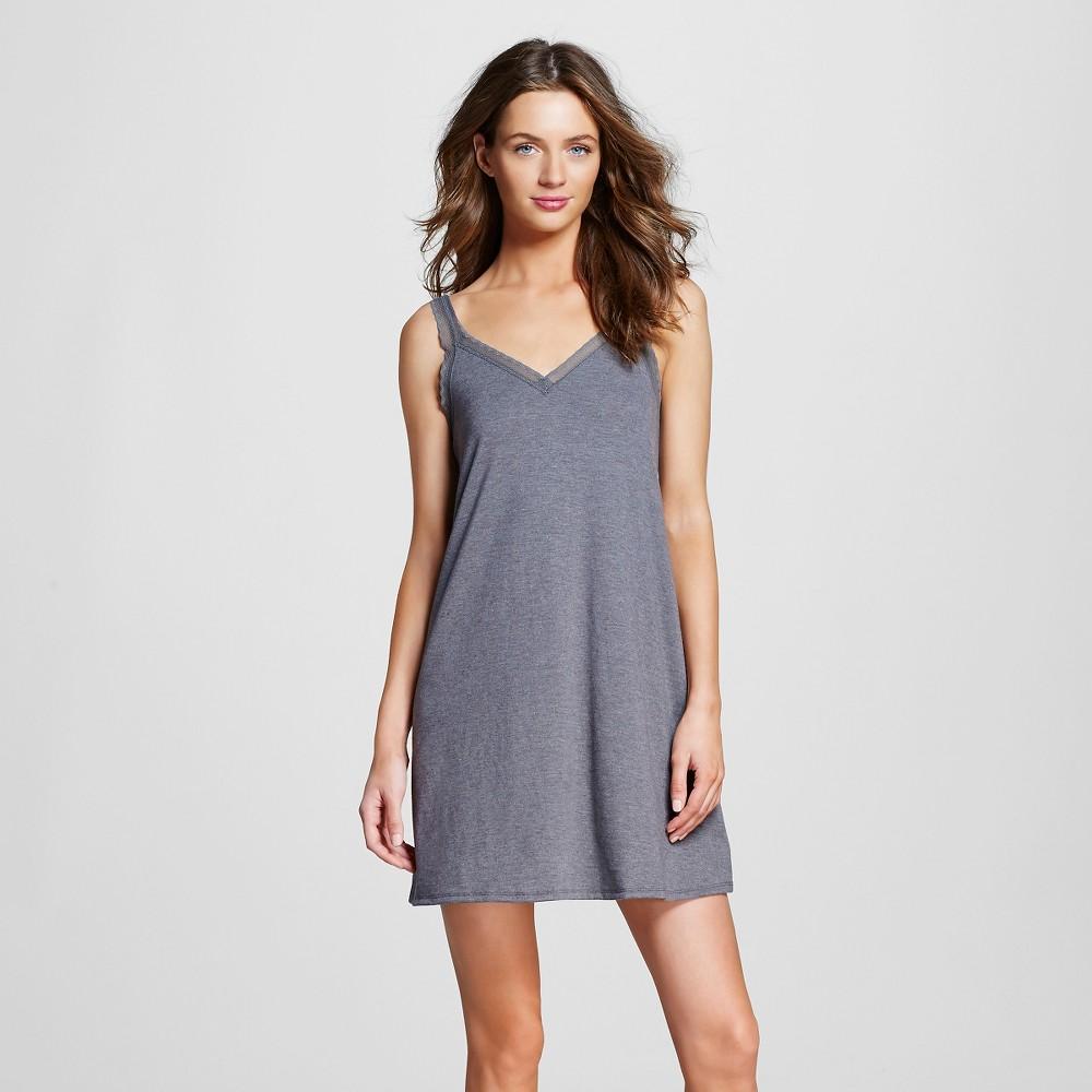 Women's Pajama Fluid Knit Nightgown Gray Xxl, Shaded Blue