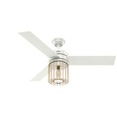 "52"" Ronan Ceiling Fan with Light with Handheld Remote - Hunter Fan"