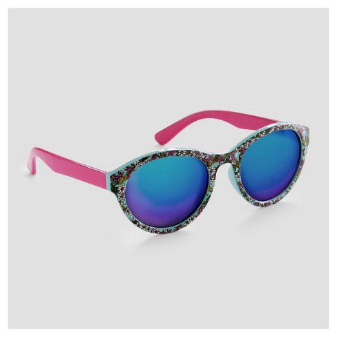 Toddler Girls' Floral Print Cat Eye Sunglasses - Cat & Jack™ Purple One Size - image 1 of 2