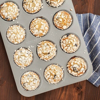 Nordic 12cup muffin pan Silver