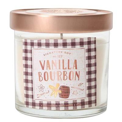 4oz Small Lidded Jar Candle Vanilla Bourbon - Signature Soy