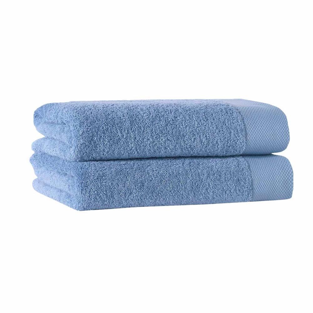 2pc Signature Turkish Cotton Bath Sheet Set Aqua Enchante Home