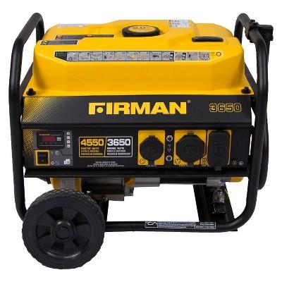 3650/4550 Watt Gas Powered Portable Generator With Wheel Kit - Firman Power