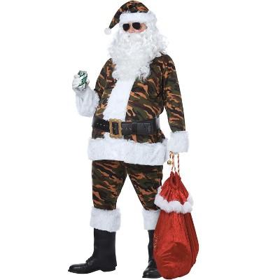 California Costumes Camouflage Santa Adult Costume