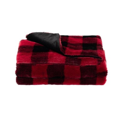 "50""x60"" Twice as Nice Reversible Plaid Faux Throw - Sure Fit"