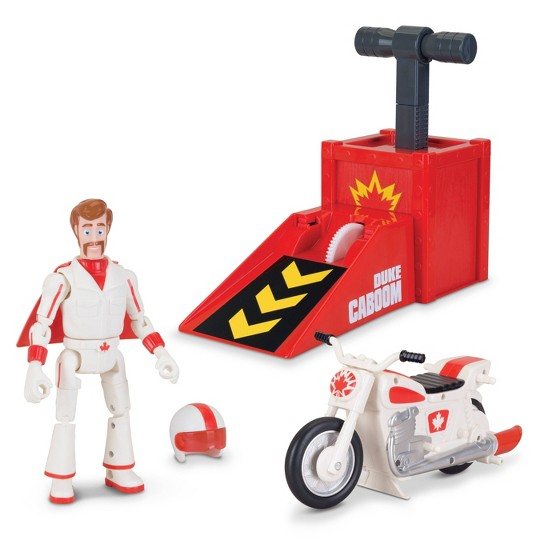 Toy Story Signature Collection Duke Caboom Stunt Set with Jump & Wheelie Action image number null