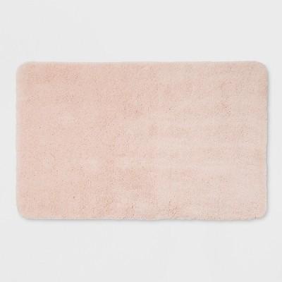 23 X37  Performance Solid Nylon Bath Rug Porcelain Pink Bath Rugs And Mats Porcelain Pink - Threshold™