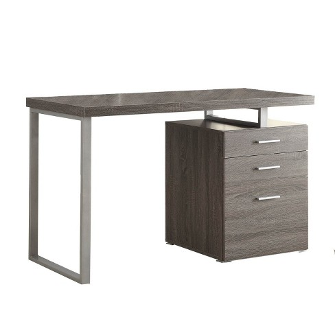 Coaster Home Furniture 47 25 Inch Home Office Writing Study Desk Laptop Computer Table With File Cabinet And Drawer Storage Weathered Gray Target