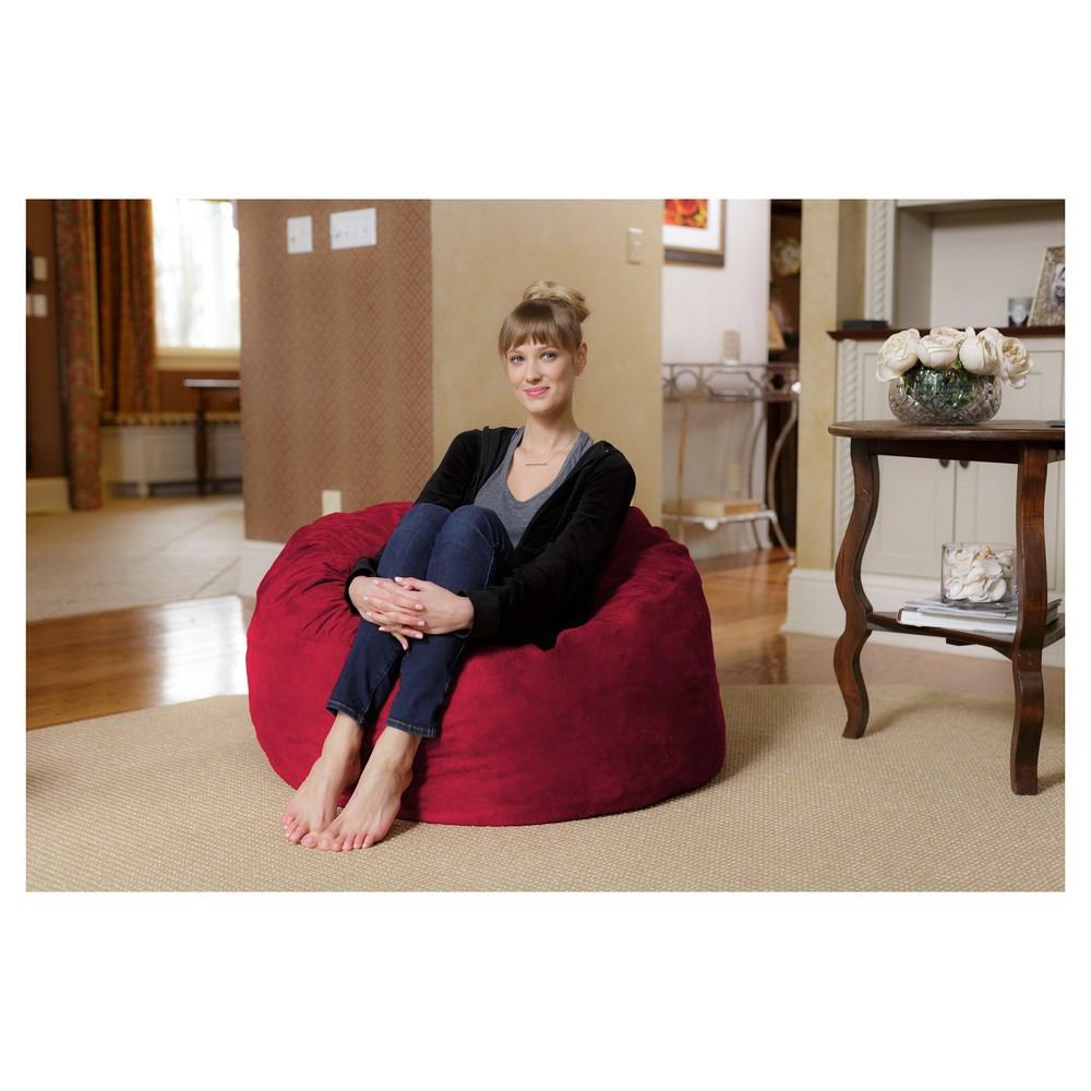 Image of 3 ft Microsuede Sack Cinnabar - Relax Sack