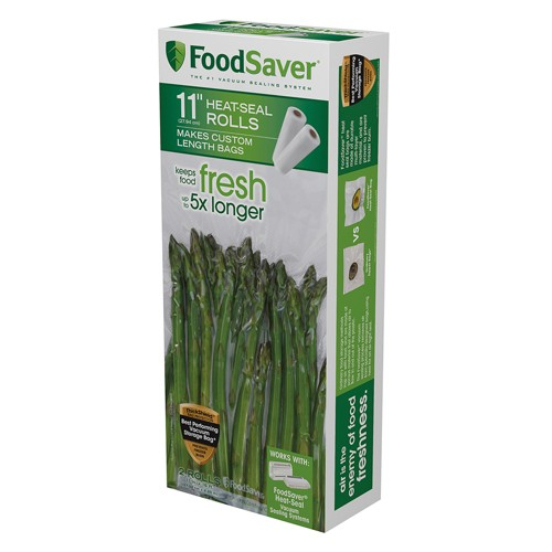 'FoodSaver 2pk 11'' x 16' Vacuum Seal Rolls, Clear'