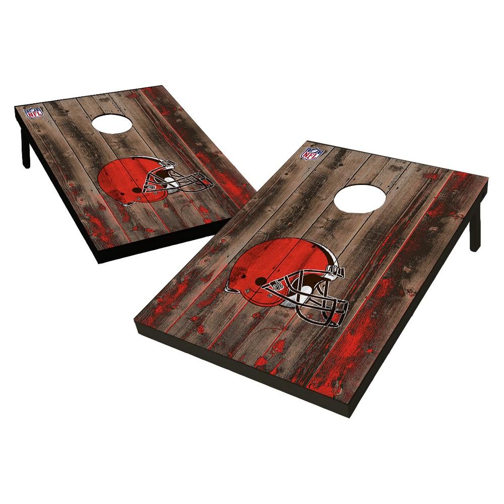 NFL Cleveland Browns Wild Sports 2'x3' Barnwood Bean Bag Toss