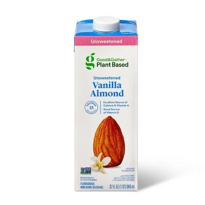 Unsweetened Vanilla Almond Milk - 32oz - Good & Gather™