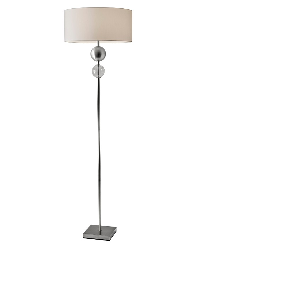 Chloe Floor Lamp Steel (Silver) (Lamp Only) - Adesso