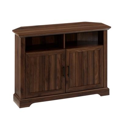 "Grooved Door Corner TV Stand for TVs up to 50"" - Saracina Home"