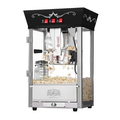 Great Northern Popcorn 8 Ounce Antique Style Popcorn Machine - Electric Countertop Popcorn Maker (Black)