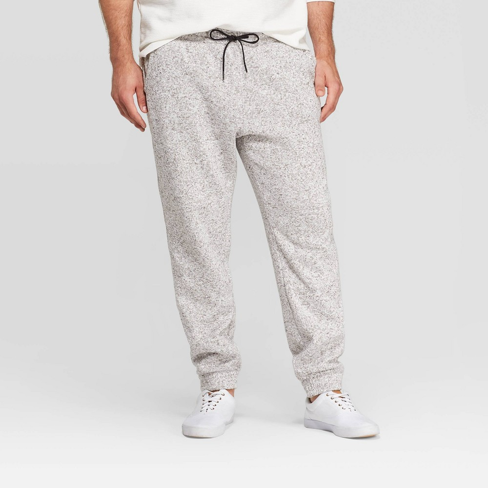 Men's Big & Tall Jogger Pants - Goodfellow & Co Light Heather Gray 3XB, Men's, Light Grey Gray was $24.99 now $17.49 (30.0% off)