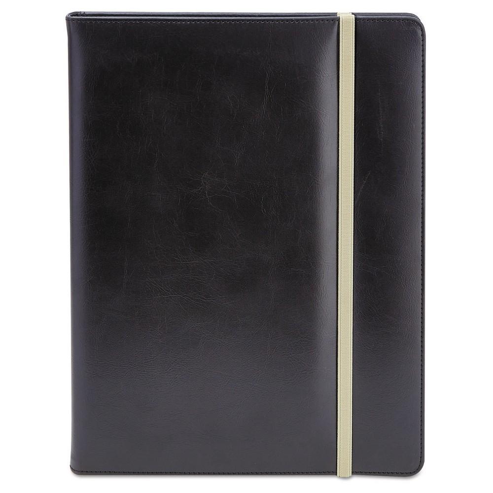 Universal One Padfolio, 8.5 x 11, Vinyl - Black
