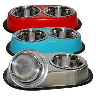 Double Dinner Dog Bowls - Colors May Vary - 28oz - Boots & Barkley™