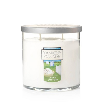 12.5oz Lidded Glass Jar 2-Wick Clean Cotton Candle - Yankee Candle