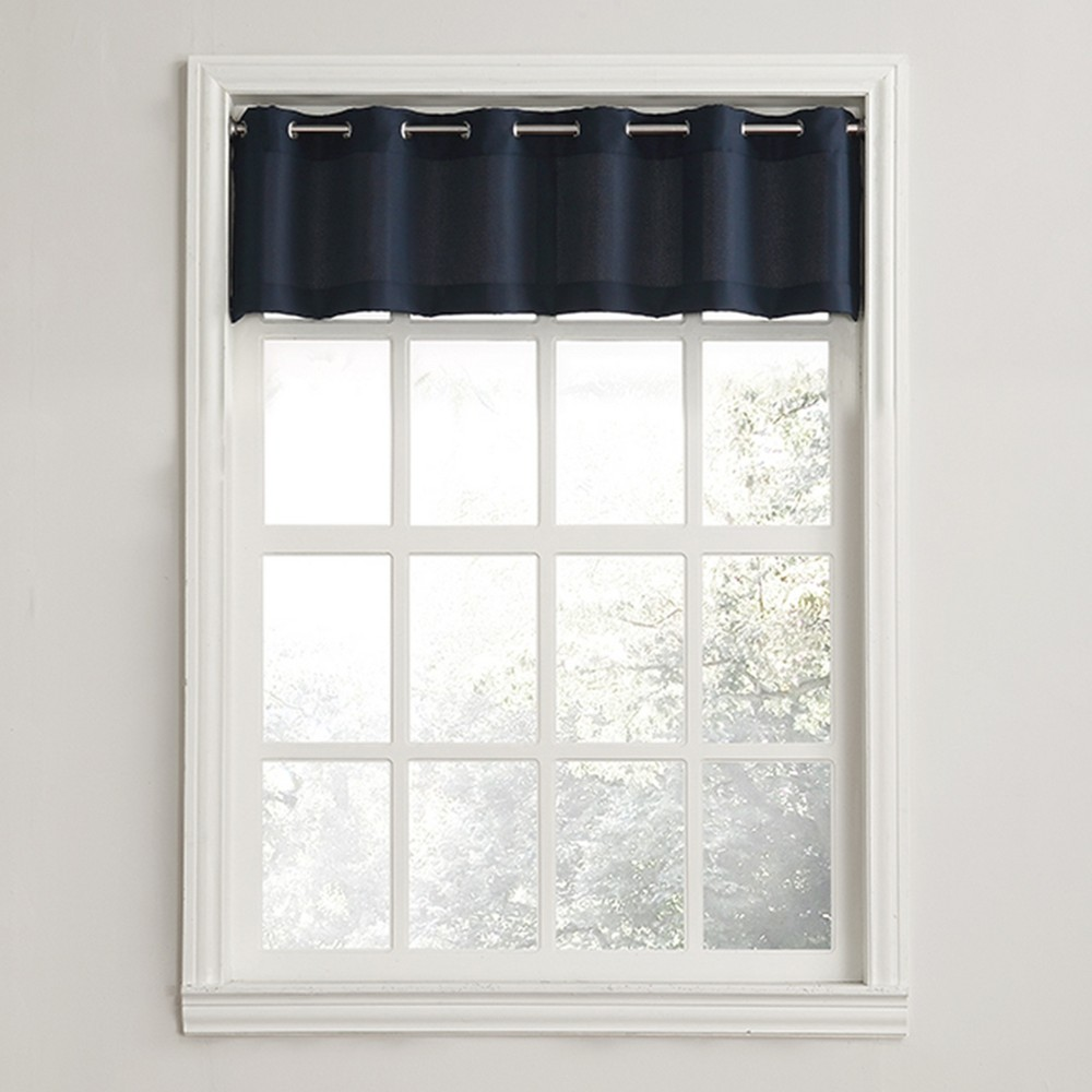 Montego Casual Textured Grommet Kitchen Curtain Valance N...
