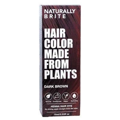 BRITE Naturally Henna Hair Dye Dark Brown - 2.53 fl oz