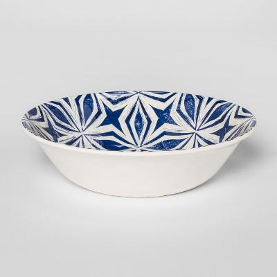 Plastic Geometric Cereal Bowl 25oz Blue/White - Threshold™