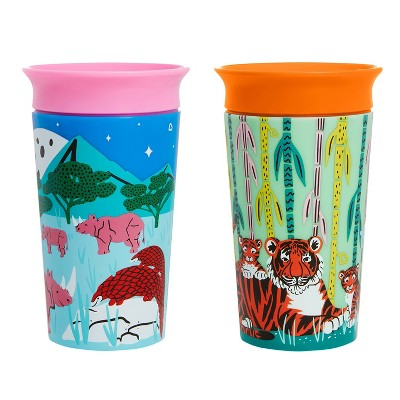 Munchkin Miracle 360 WildLove Sippy Cup 9oz - 2pk - Tiger/Rhino