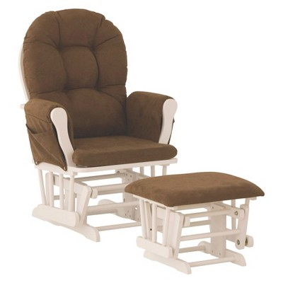 Storkcraft Hoop White Glider and Ottoman