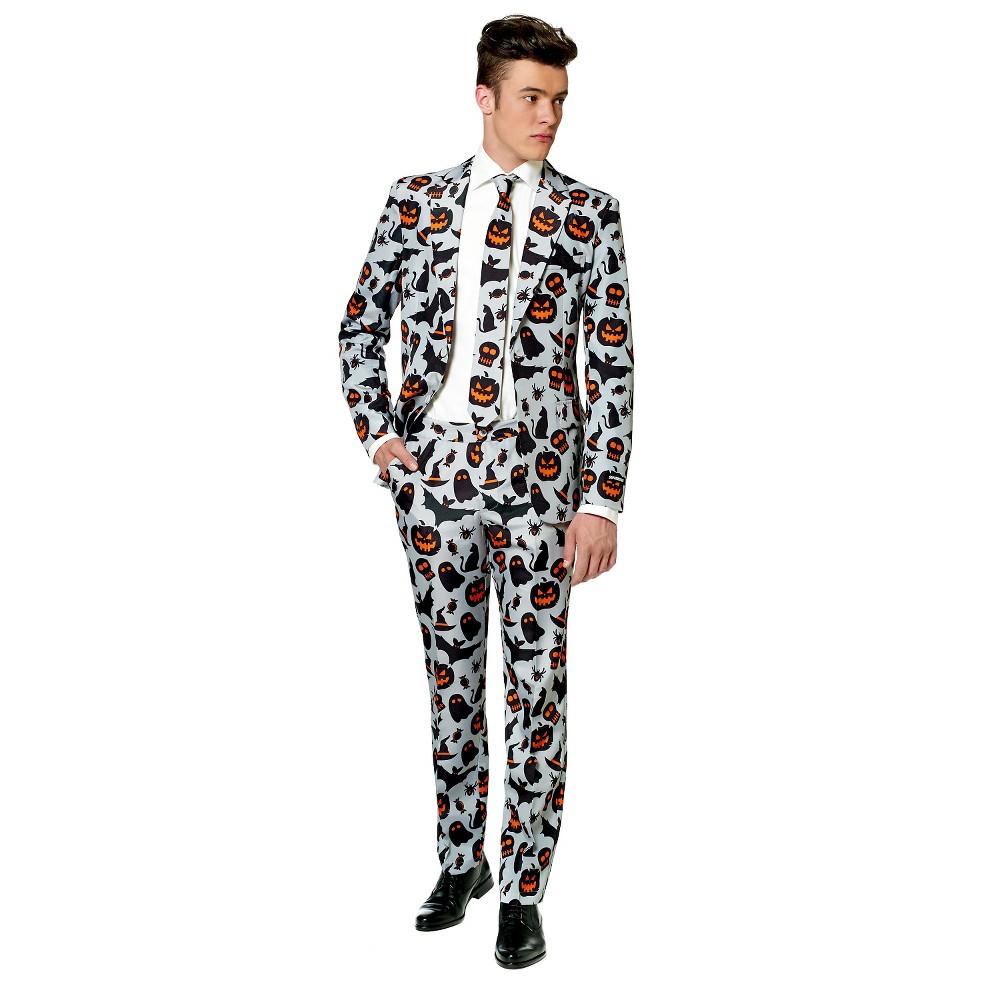 Men's Halloween Spook Suit Costume Large, Gray