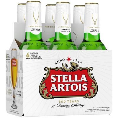Stella Artois Belgian Beer - 6pk/11.2 fl oz Bottles