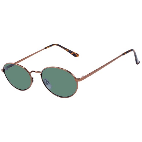 f0581892579 Women s Small Oval Metal Sunglasses - Wild Fable™ Brown   Target