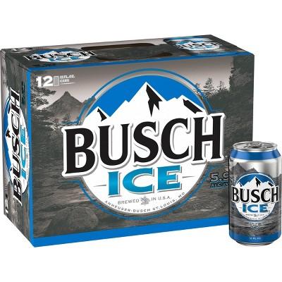Busch Ice Beer - 12pk/12 fl oz Cans