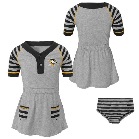 premium selection 5a007 4c62a Pittsburgh Penguins Girls' Infant/Toddler Striped Gray Dress - 3T