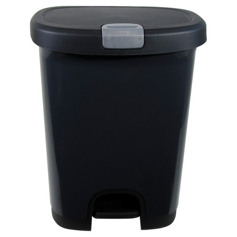 Hefty 7 Gallon Step On Trash Can With Locking Lid Black Target