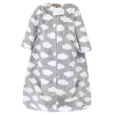 Hudson Baby Infant Plush Sleeping Bag, Sack, Blanket, Gray Clouds