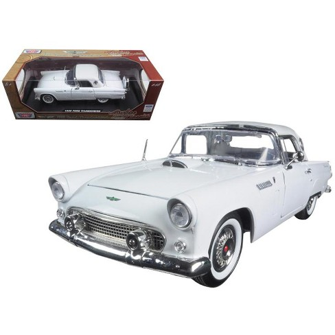 """1956 Ford Thunderbird White """"Timeless Classics"""" 1/18 Diecast Model Car by Motormax - image 1 of 1"""