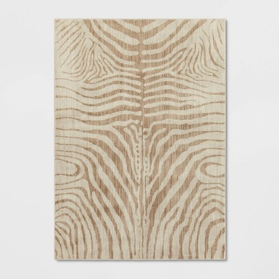 6'6 X10' Zebra Stripe Woven Area Rug Cream - Opalhouse™